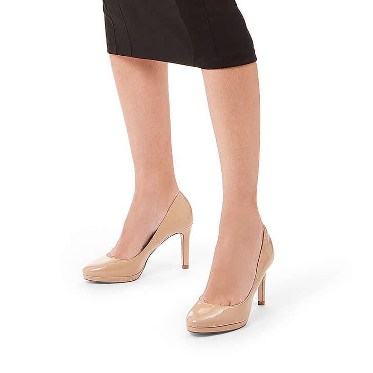 f0fac9ce5236 Carmel Wf Wide Fit Nude Stiletto Heel Court Shoes By Miss KG