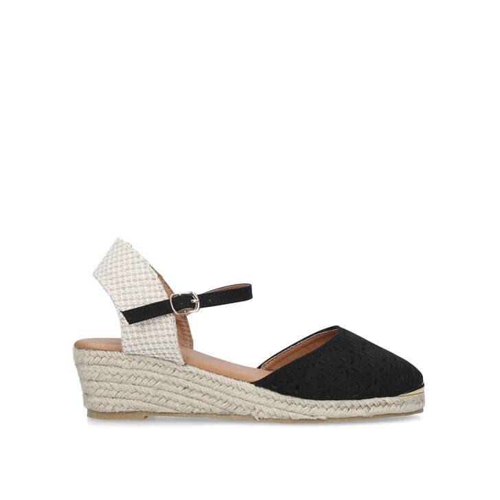 0680661f40c Dea Black Espadrille Wedge Sandals By Miss KG | Kurt Geiger