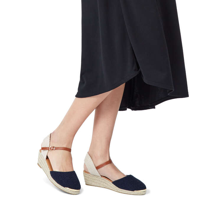 Sandals Miss Geiger Navy By KgKurt Wedge Dea Espadrille WD2YH9EI