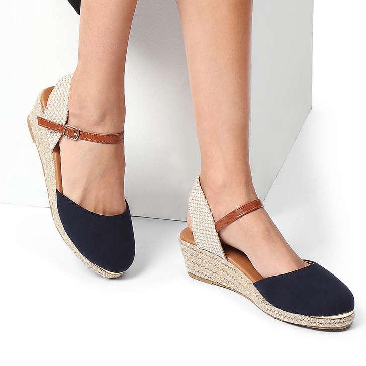 9eba8b2df9e Lea Navy Espadrille Wedge Sandals By Miss KG | Kurt Geiger