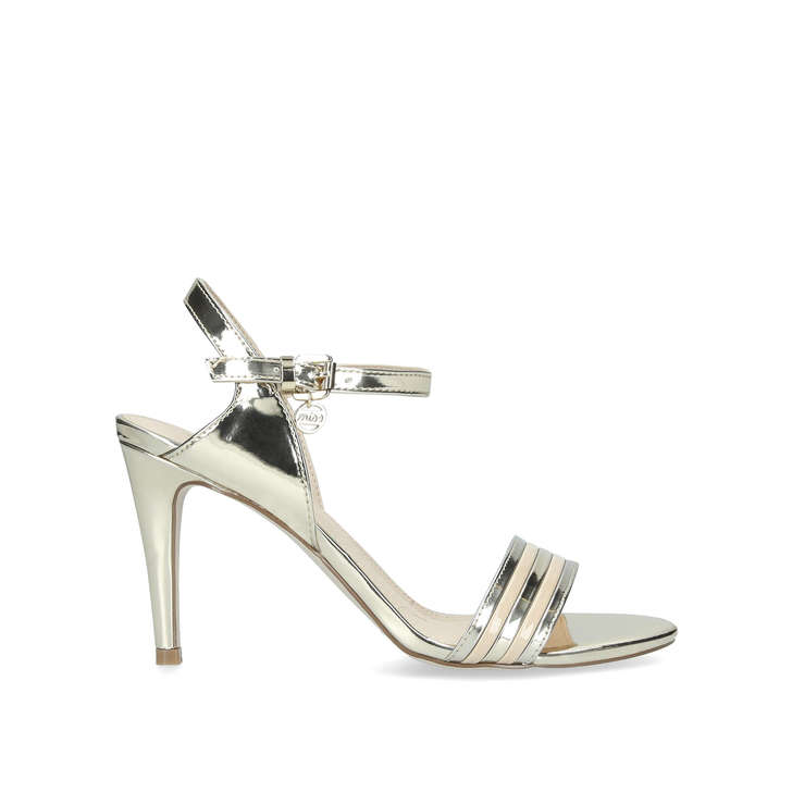 2efd200ad0 Pippy Metallic Gold Open Toe Strappy Sandals By Miss KG | Kurt Geiger