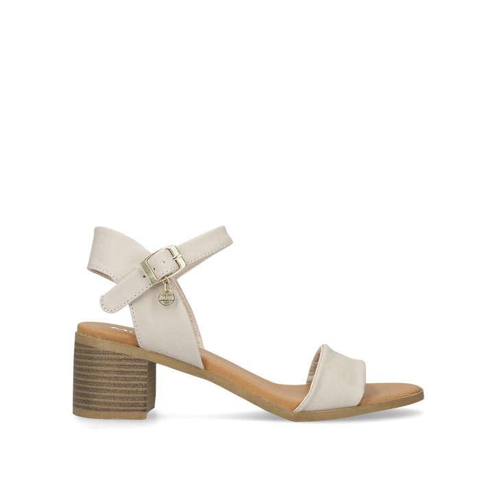 e8e75749fd Putty Nude Block Heel Strappy Sandals By Miss KG   Kurt Geiger