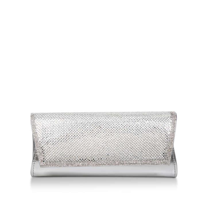 Ocean Silver Embellished Clutch Bag By Carvela  9003c46c67638