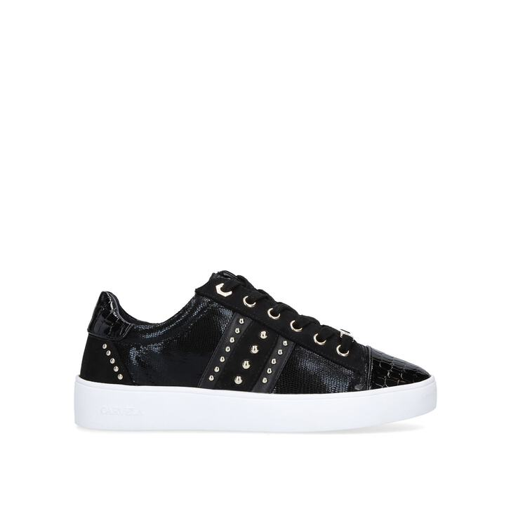 JARGON Black Embellished Trainers With