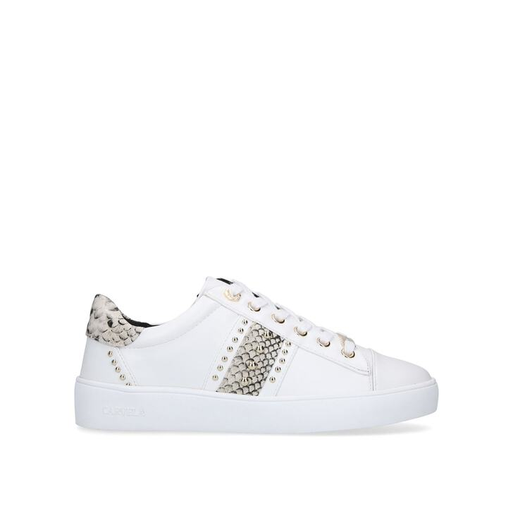 JARGON White Embellished Trainers With