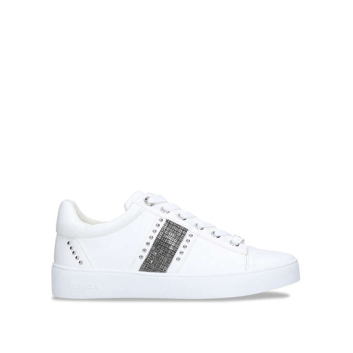 Silver Embellished Trainers