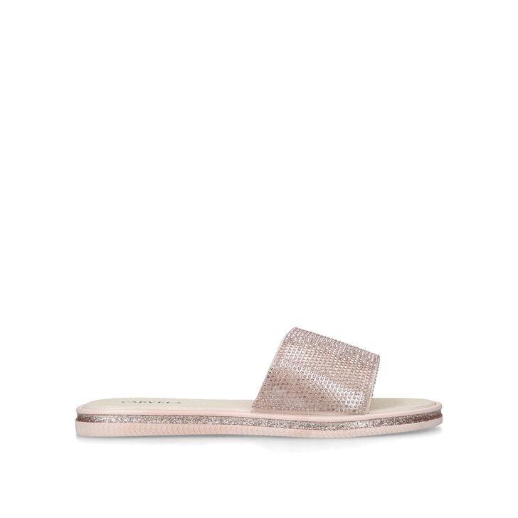 BOOM Blush Embellished Sliders by