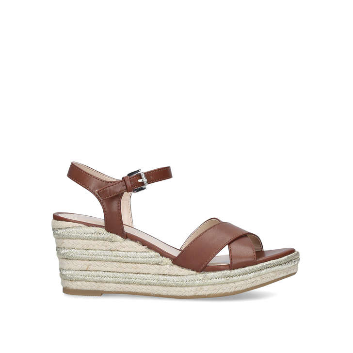 c70862d8659 Swoon Tan Espadrille Wedge Sandals By Carvela | Kurt Geiger
