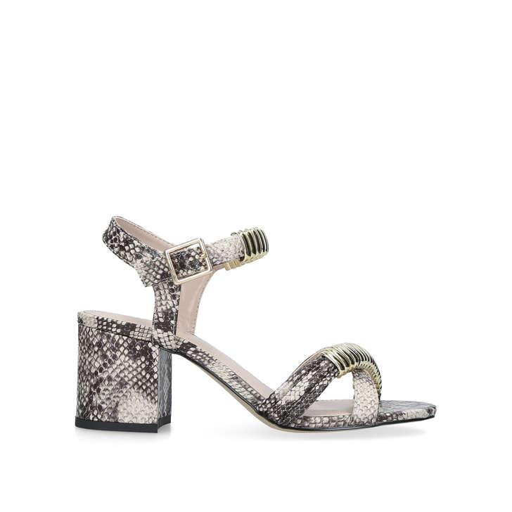 0e8e3bd22 Skipper Snake Print Block Heel Sandals By Carvela