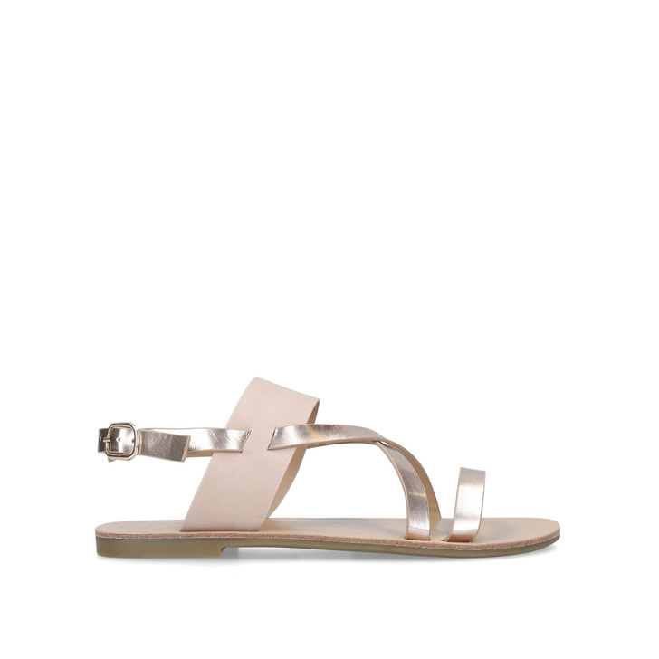 f97b0da24 Brink Pink And Gold Strappy Sandals By Carvela