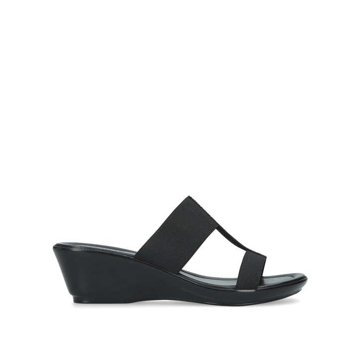 d435f0fdf1 Lorenzo Black Embellished Low Heel Wedge Sandals By Carvela Comfort | Kurt  Geiger
