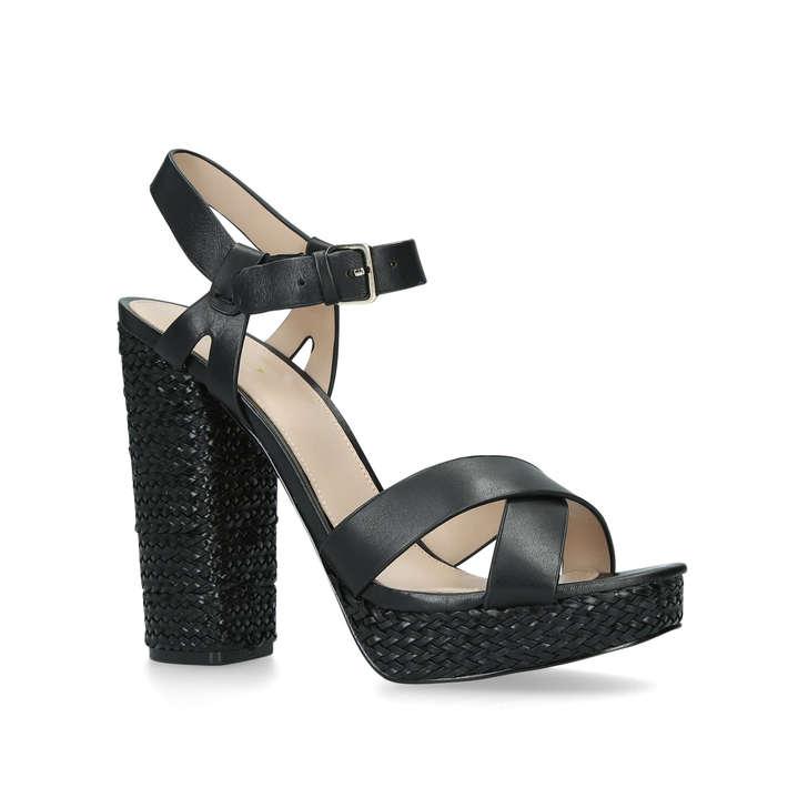 8e236febfe2 Mittie Black Leather Block Heel Platform Sandals By Aldo