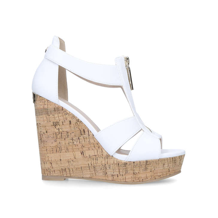 132e60c222 Krass White High Heel Wedge Sandals By Carvela | Kurt Geiger