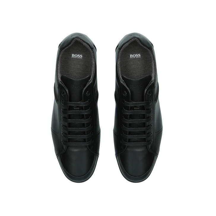 d1f9f6ce7cc Saturn Lo Pro Sneaker Black Leather Low Top Trainers By Boss | Kurt Geiger