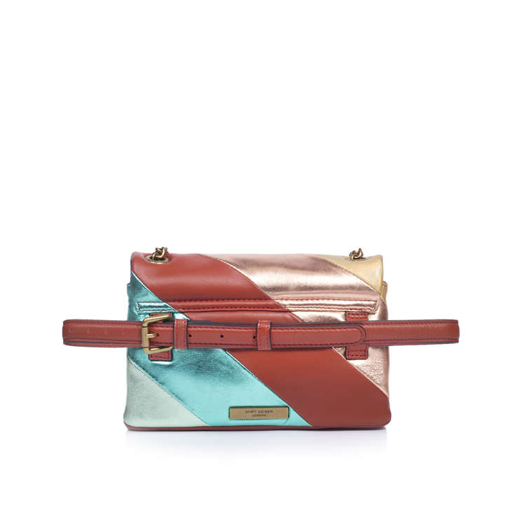 Sm Kensington Belt Bag Metallic Rainbow Leather Belt Bag By Kurt Geiger  London  4f666d2d2a2b9