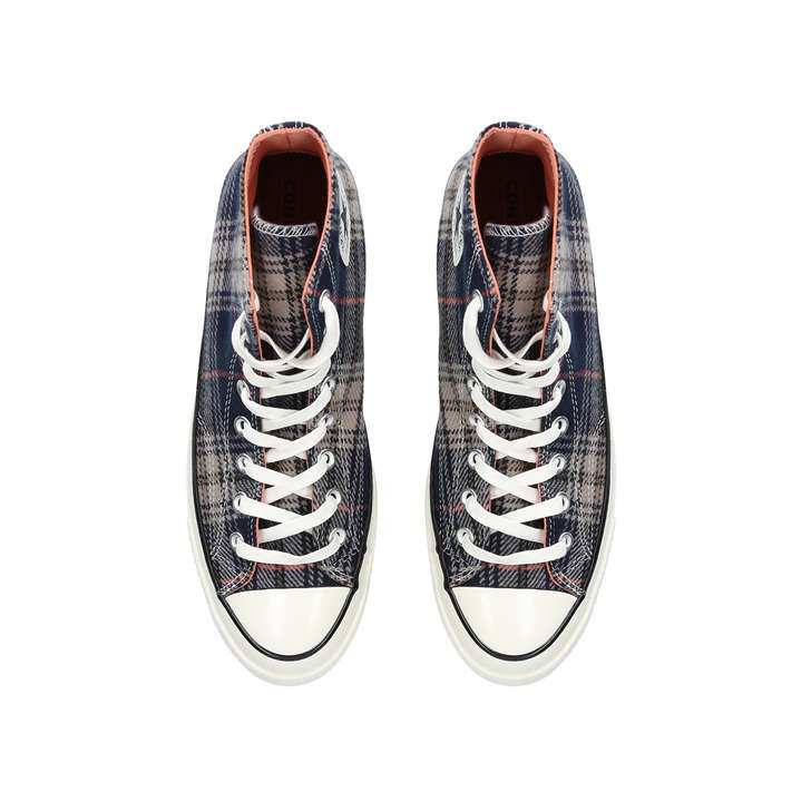 73e063d24fa2 Chuck 70 Plaid Blue Low Top Trainers By Converse | Kurt Geiger