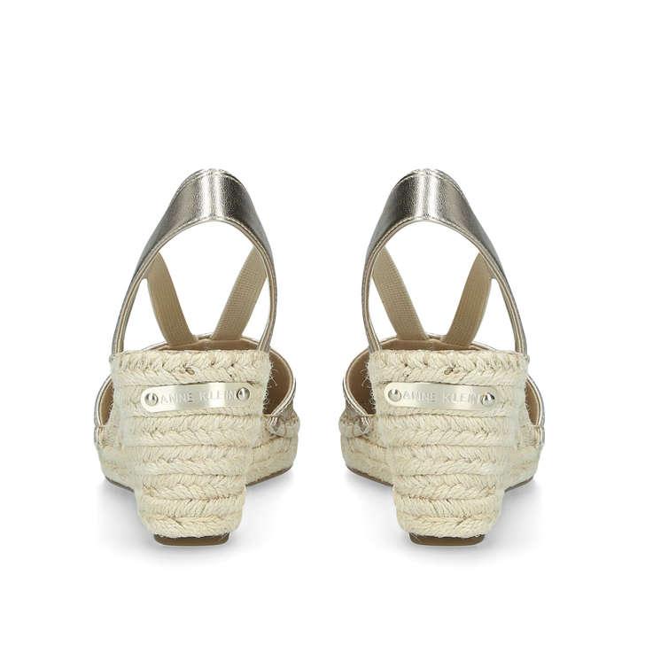 1cd2e87e59d Aneesa Metallic Gold Espadrille Wedge Sandals By Anne Klein   Kurt ...