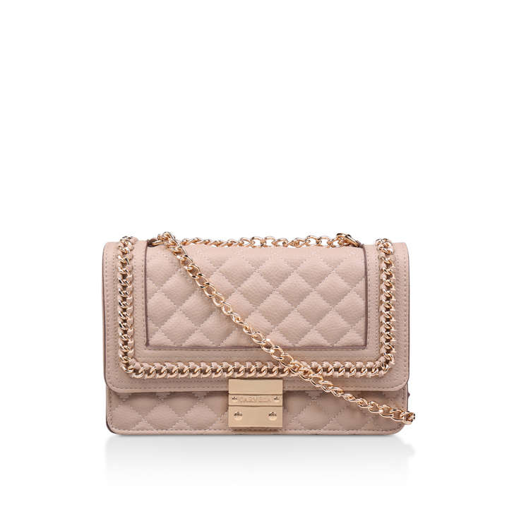 779e2597587 Large Bailey Chain Bag Nude Quilted Chain Shoulder Bag By Carvela ...