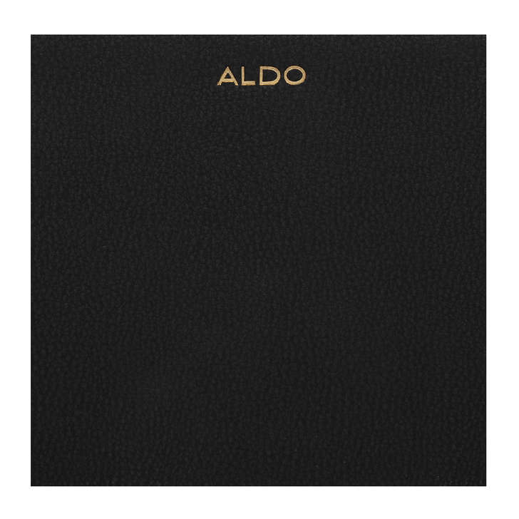 64986b2bb6e Ganim Black Zip Around Purse By Aldo