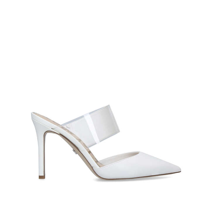 cfcb49c2ca30 Hope White Leather Perspex Stiletto Heels By Sam Edelman
