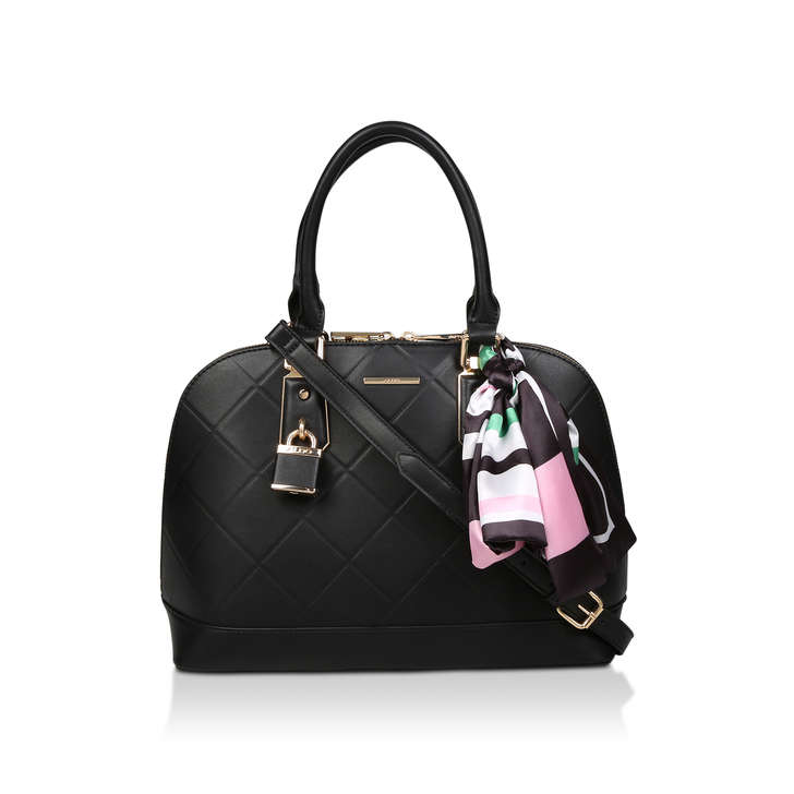 258a98a1280 Handful Black Tote Bag With Detachable Scarf By Aldo