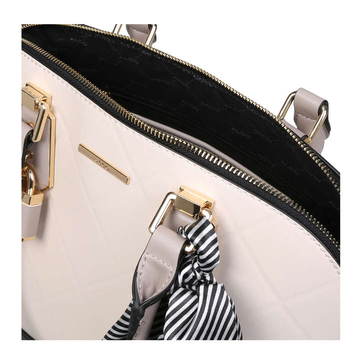 8526cbd134b Handful White Tote Bag With Detachable Scarf By Aldo