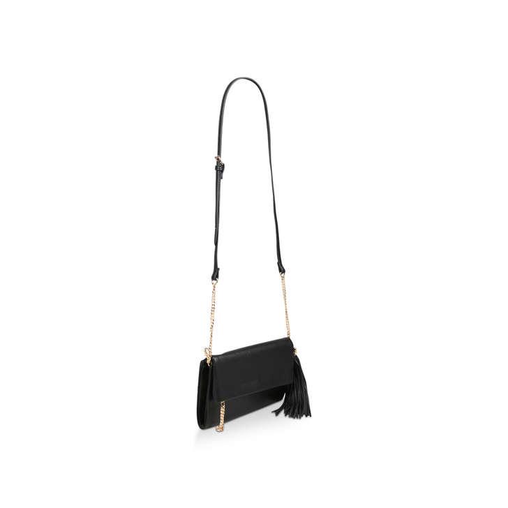 6da02003001 Hodes Black Clutch Bag With Tassel By Aldo