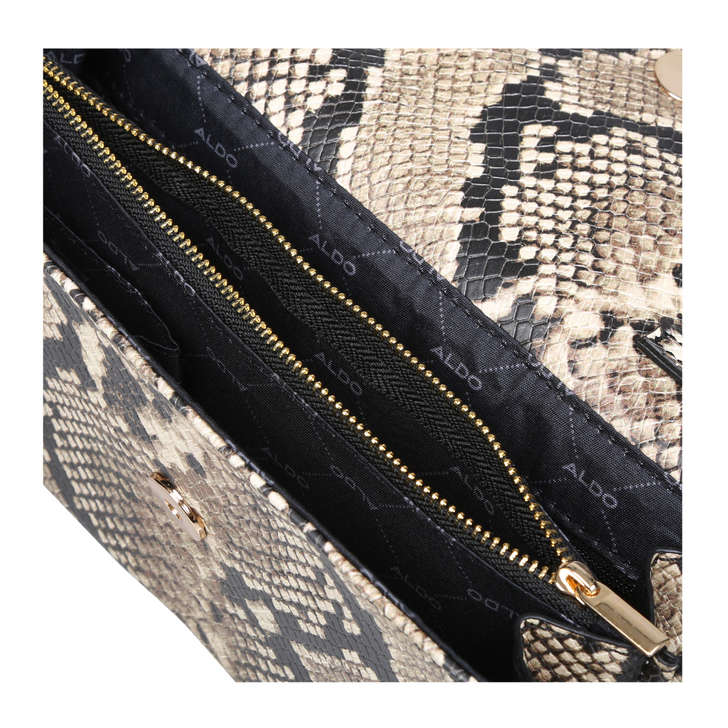 53220fd6cc4 Hodes Snake Print Clutch Bag With Tassel By Aldo