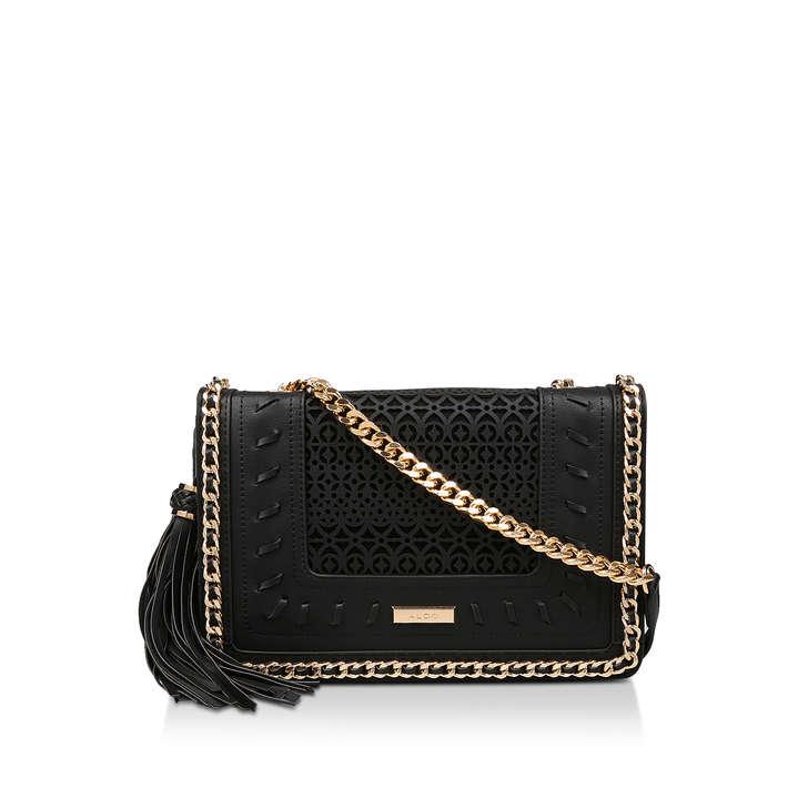 7b1756b8972 Trenzano Black Shoulder Bag By Aldo