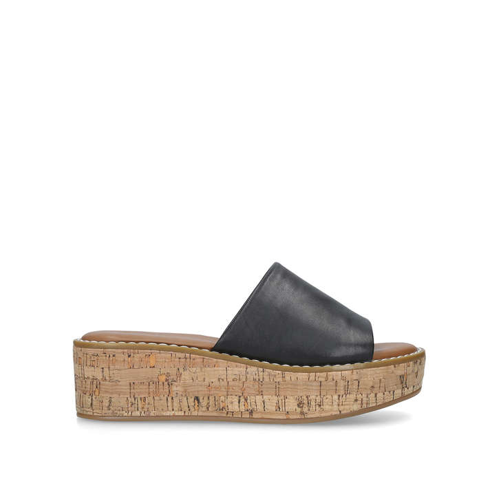 2f7dbc6f267 Araolian Black Flatform Wedge Sandals