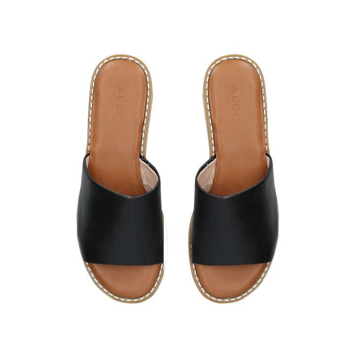 4992a238b76 Araolian Black Flatform Wedge Sandals