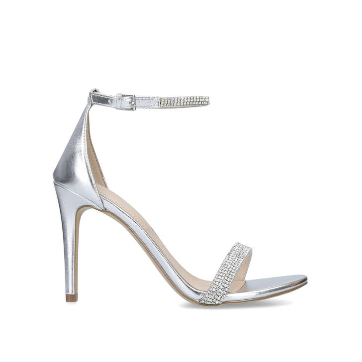 5552718bcb0 Aroclya Silver Embellished Stiletto Heeled Sandals By Aldo