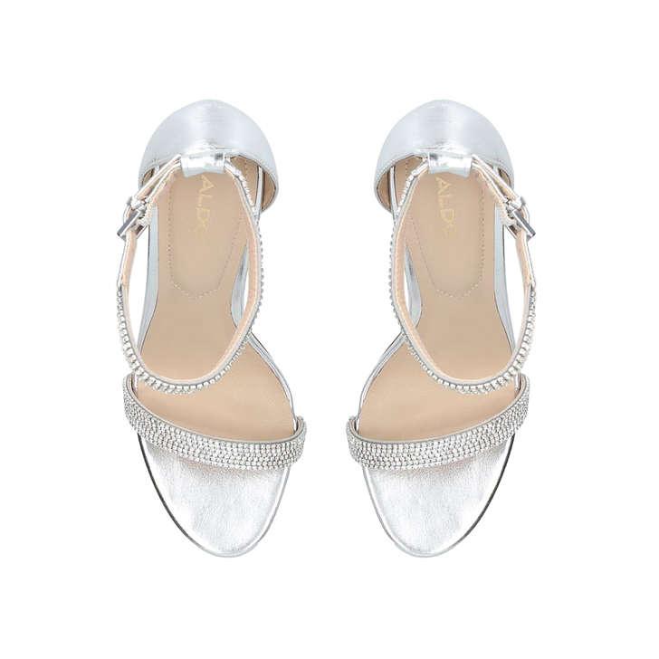 739d7ca85507 Aroclya Silver Embellished Stiletto Heeled Sandals By Aldo