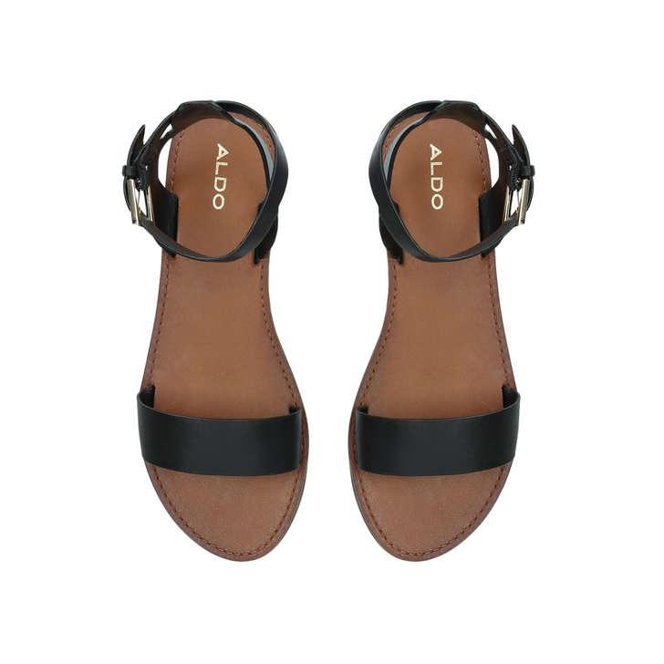 7676dbeabd6 Campodoro Black Flat Sandals By Aldo