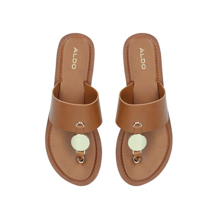213df32bf00917 Yilania Tan Flat Sandals By Aldo
