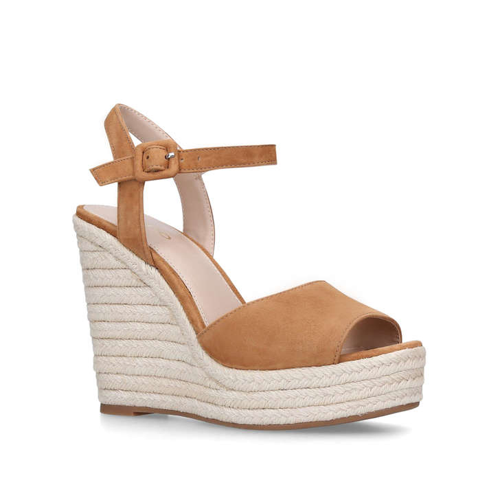 85ebbbef0 Ybelani Brown Leather Wedge Heeled Sandals By Aldo | Kurt Geiger