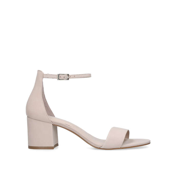 Villarosa Nude Block Heel Sandals By Aldo