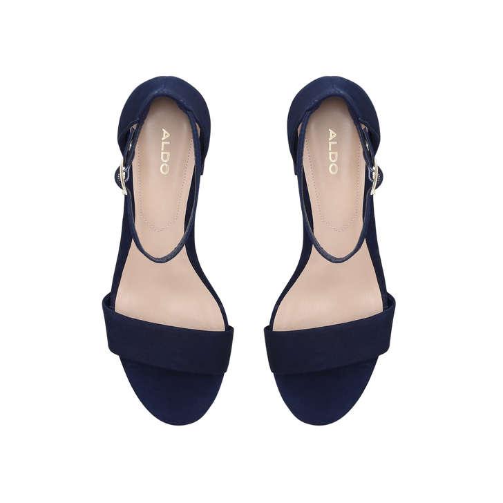 c7e924c2194c21 Villarosa Blue Block Heel Strappy Sandals By Aldo