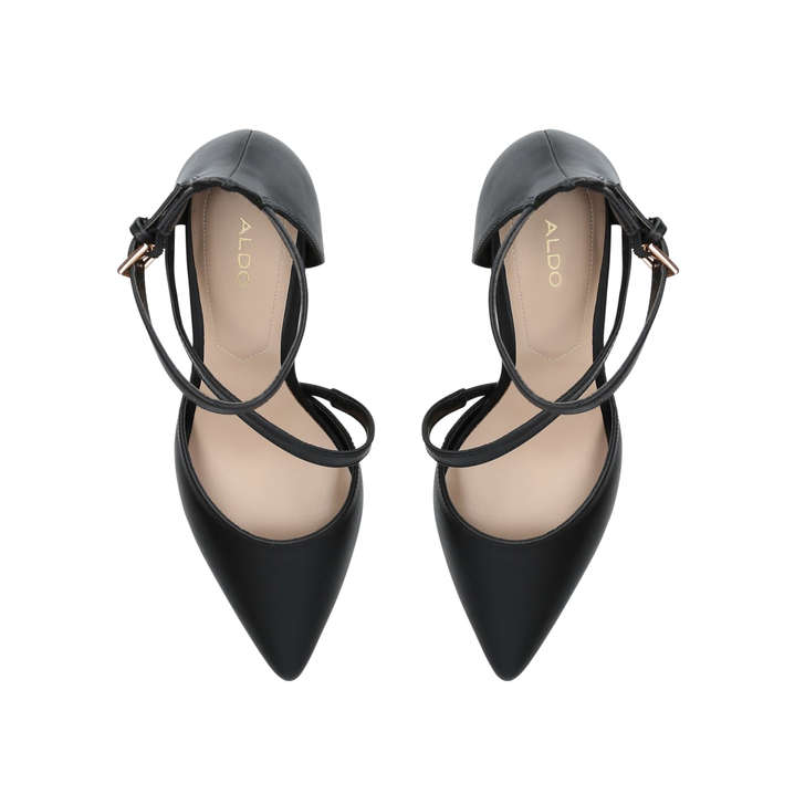 a6e9e00a80 Vetrano Black Cross Strap Court Shoes By Aldo | Kurt Geiger