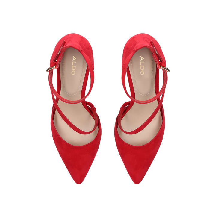 4048f787d0 Vetrano Red Cross Strap Court Shoes By Aldo | Kurt Geiger