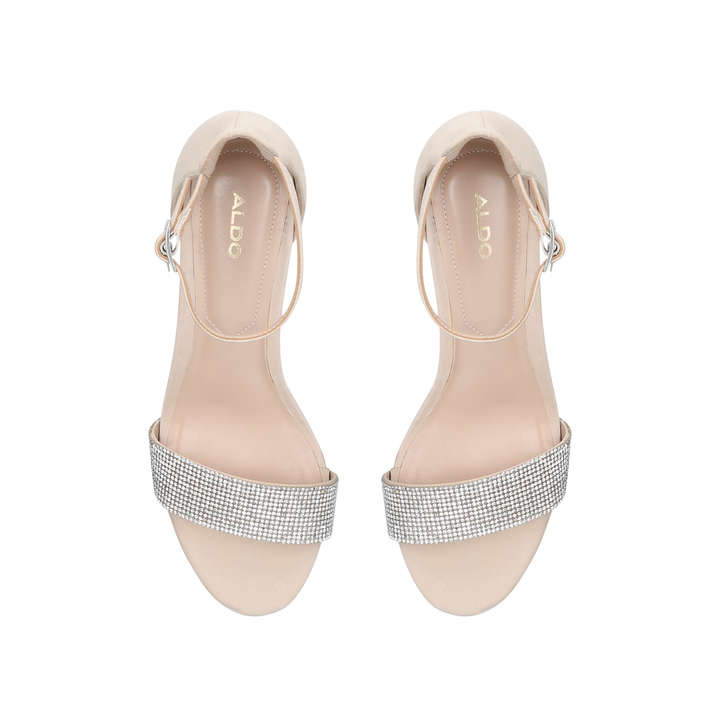 fa5cf341bfae Gladoniel Nude Embellished Block Heel Sandals By Aldo
