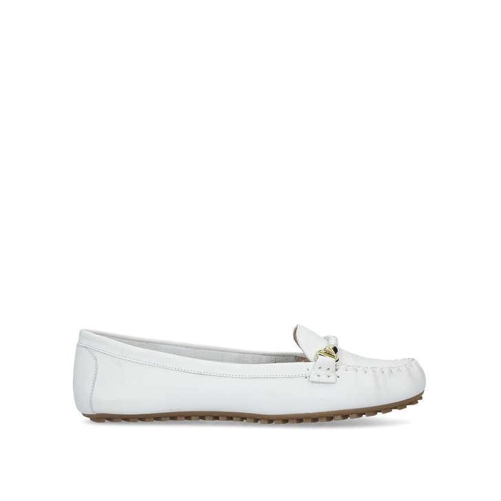 c0d870ec95 Maocien White Loafers By Aldo