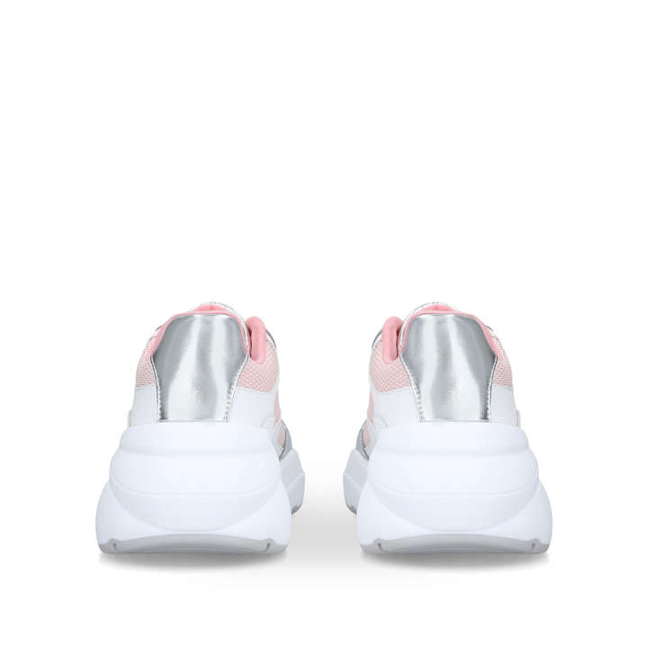 760d5fbc5f65 Merurka Pink And Silver Chunky Trainers By Aldo