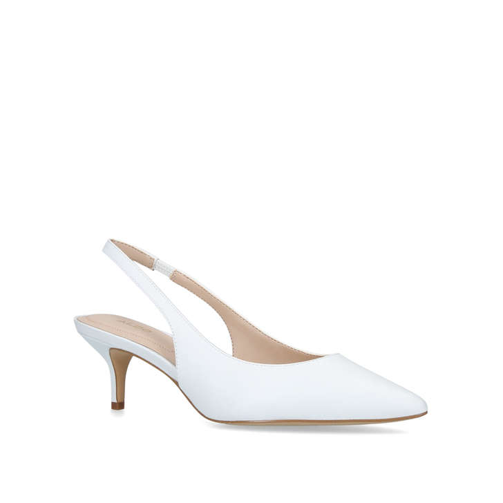 Shoes Slingback White Court Kitten AldoKurt Heel Nilania By Geiger jLA34Rq5