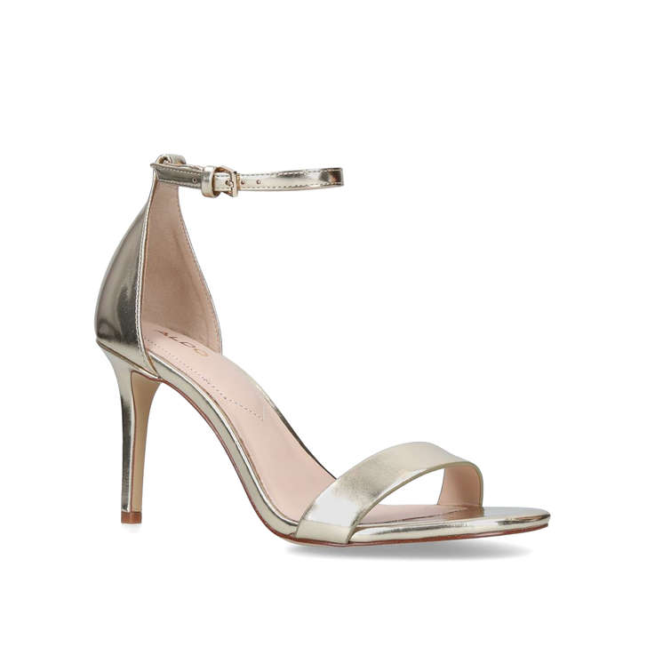 9bcd13eaeb1 Piliria Gold Barely There Heeled Sandals By Aldo