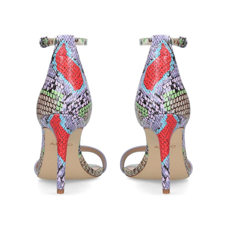 1da5a970b66 Piliria Snake Print Barely There Heeled Sandals By Aldo