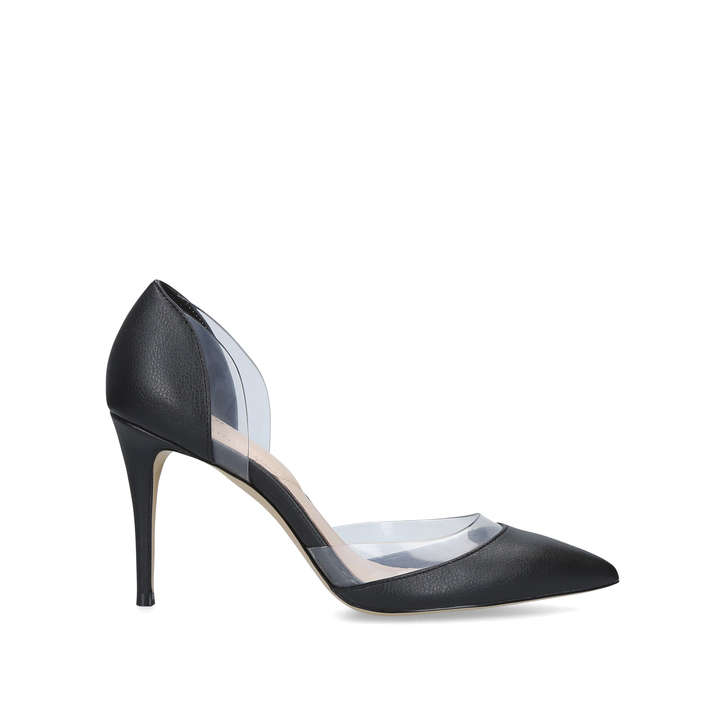 072584101984 Paven Black Perspex Court Shoes By Aldo