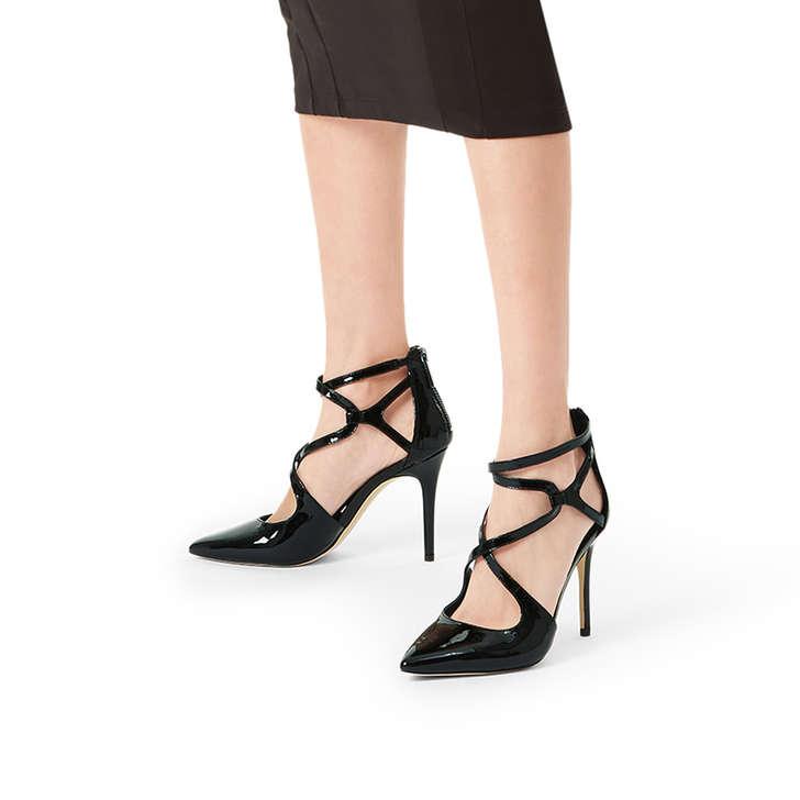 efa091937ee3 Catia Pump Black Patent Stiletto Heel Shoes By Michael Michael Kors ...