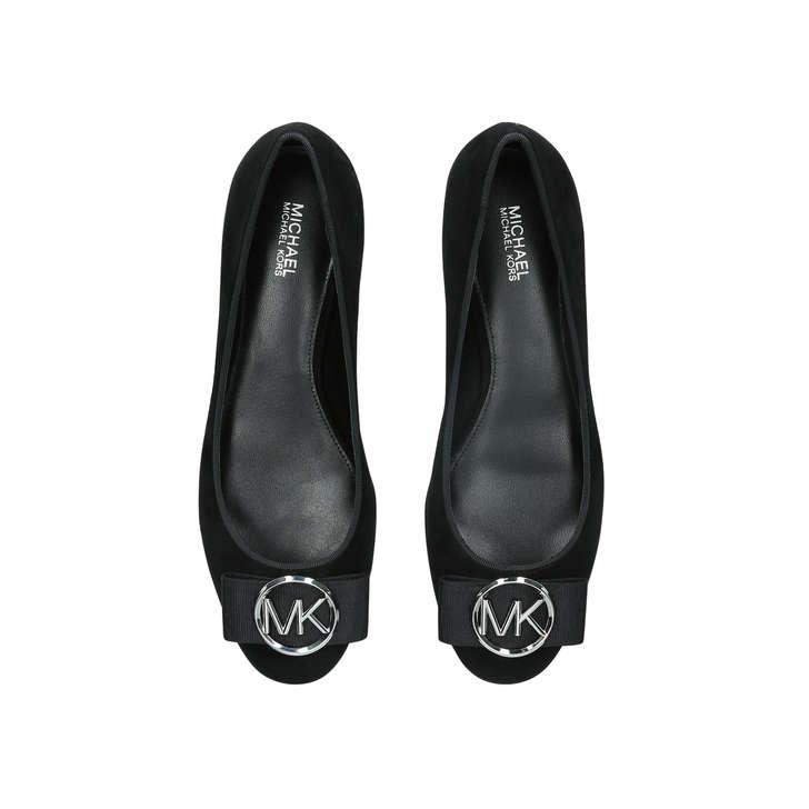 be2bd04f0 Marsha Flat Black Ballerina Pumps By Michael Michael Kors | Kurt Geiger