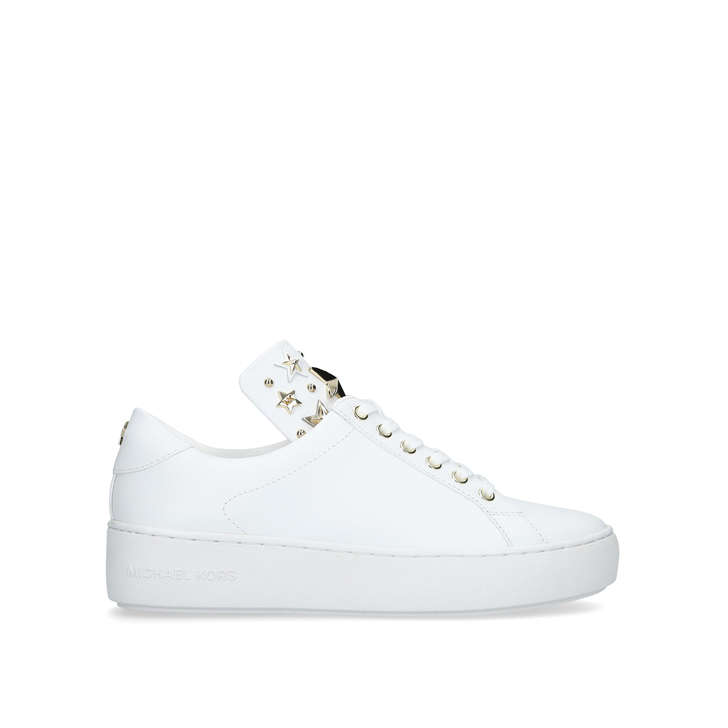 9c1a3ac0f1b Mindy Lace Up White Studded Low Top Trainers By Michael Michael Kors | Kurt  Geiger